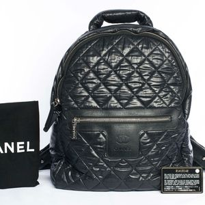 Auth. Chanel Coco Cocoon Quilted Nylon Backpack